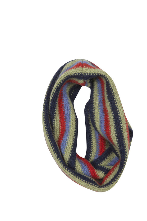 Kids Striped Loop Scarf-Native World-The WoolPress Arrowtown