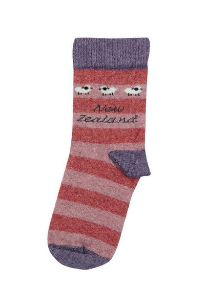 Kids Sheep Socks-Native World-The WoolPress Arrowtown