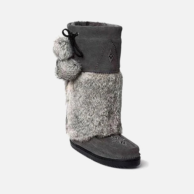 Womens Snowy Owl Mukluk - Charcoal