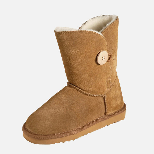 Button UGG Boot - Walnut