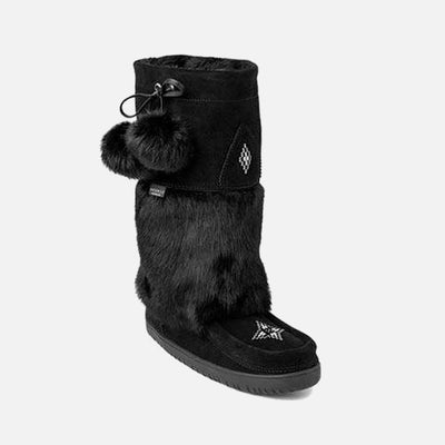 Womens Waterproof Snowy Owl Mukluk - Black