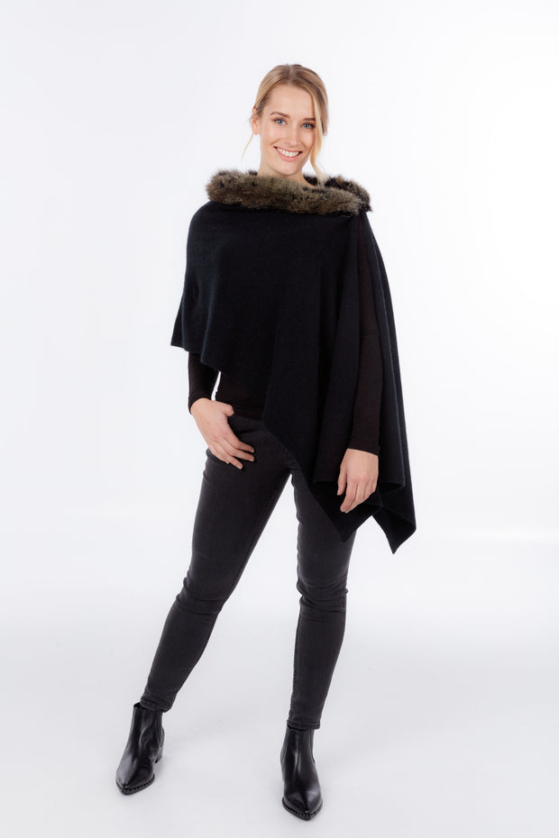 Womens Snowtip Fur Wrap