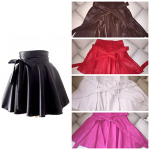 Woman's Leather Tie Skirt