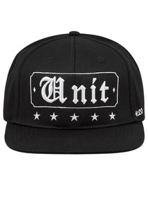 Unit Broker Snap Back Cap - Black