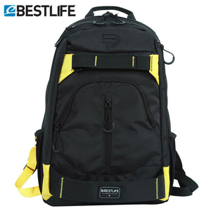 BESTLIFE Multi Colour Canvas Laptop Skateboard Backpack