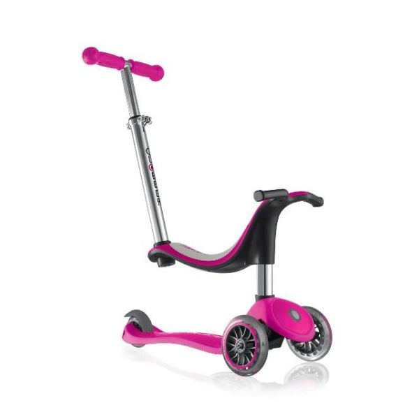 GLOBBER EVO 4 in 1 Scooter - Deep Pink
