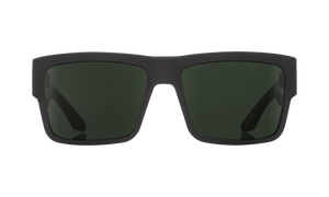 Spy Optic Cyrus Sunglasses -  Black Frame - Happy Gray Green Lens