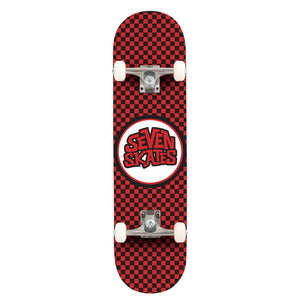 "Seven Skates Checkered Red 7.25"" Skateboard"