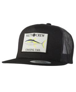 Salty Crew Ahi Patched Trucker Hat - Black