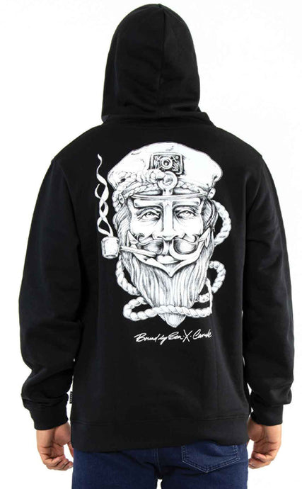 CARVE THE CAPTAIN HOODIE PRINT BACK & KANGA PKT FRONT