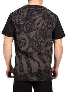 Unit Mens Tee Shirt - Turbulence Black