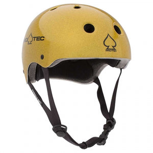 Hardcore Pro-Tec Certified Classic Fit Helmet - Gold Flake