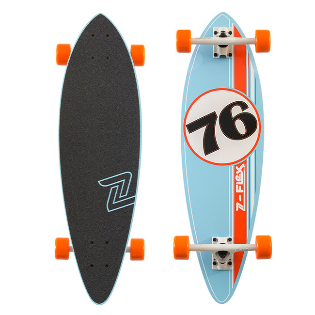 Z-Flex GT Mini Pintail - Blue/Burnt Orange Skateboard