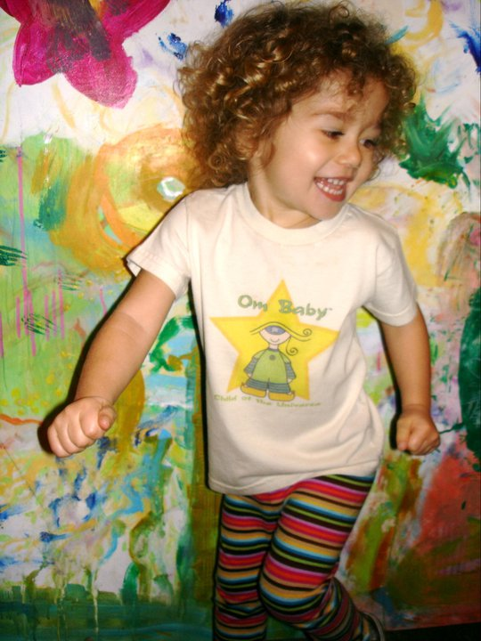 Om Baby, Child of the Universe organic (beige star) children's t-shirts