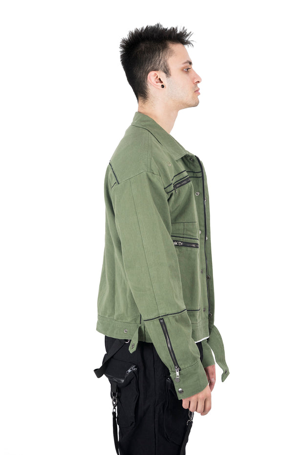 Olive Green Denim