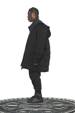 Prosper Black Trench Bubble - Molowo Clothing