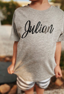 WHITE Personalised name T-Shirt