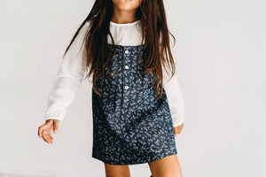 FLORENCE denim pinafore dress