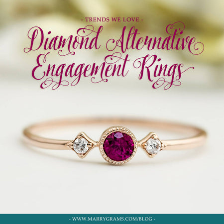 Diamond Alternative Engagement Rings: Trends We Love