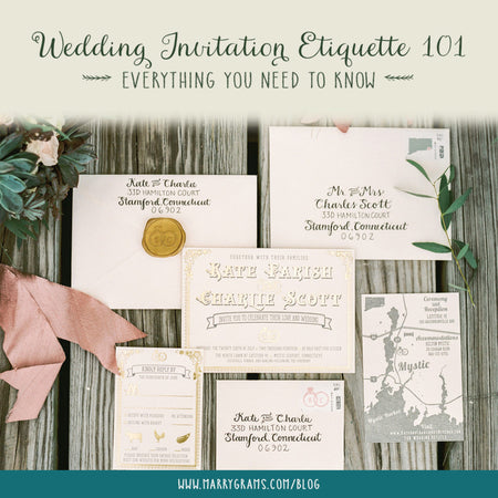Wedding Invitation Etiquette 101 - Everything You Need To Know