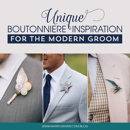 Unique Boutonniere Inspiration for the Modern Groom