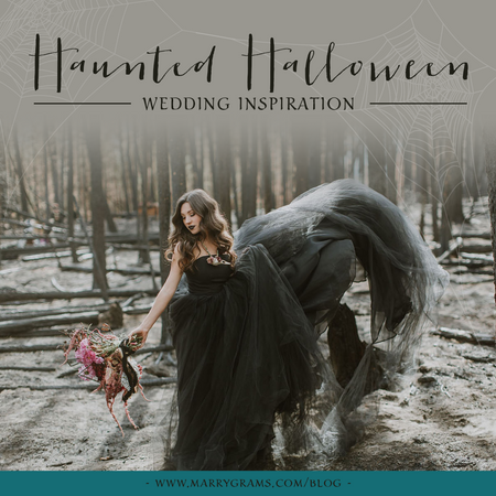 Halloween Wedding Inspiration - Spooky Elegance