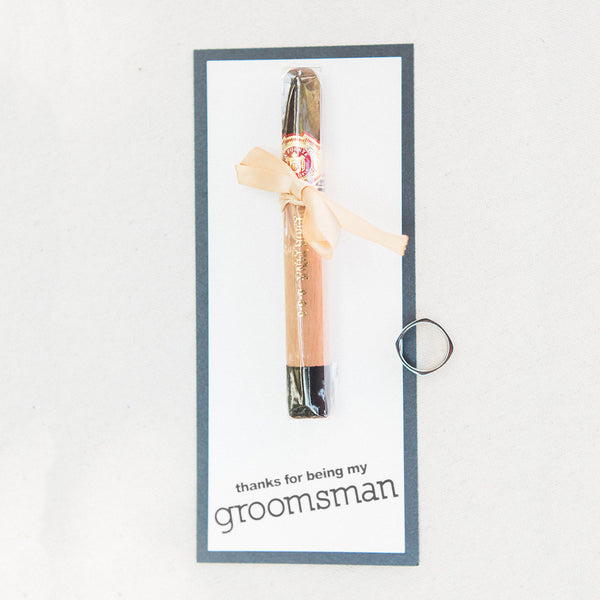 Cigar cards for groomsmen, best man, usher, father of the bride & groom, wedding thank you cards