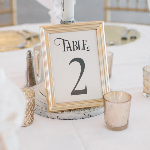 Table Numbers for Weddings, Events, Ready to Ship from Marrygrams