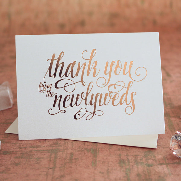 Thank you cards for wedding, bridal shower, bachelorette, baby shower, event thank you cards