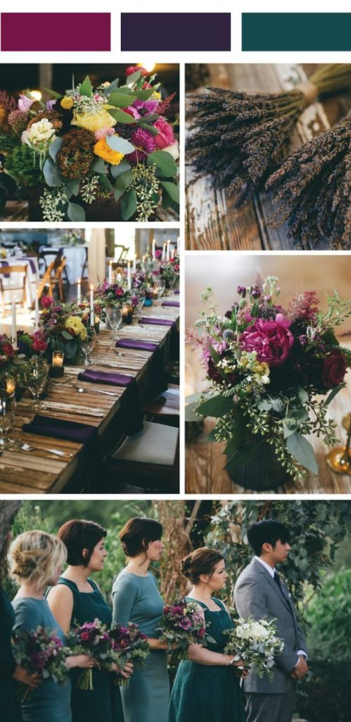 fall wedding jewel tone color palette