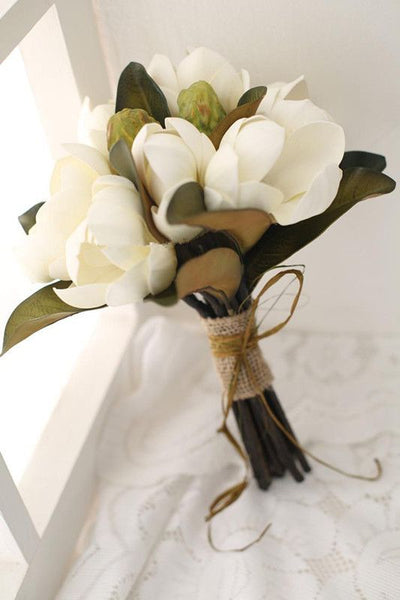 magnolia wedding flowers bouquet