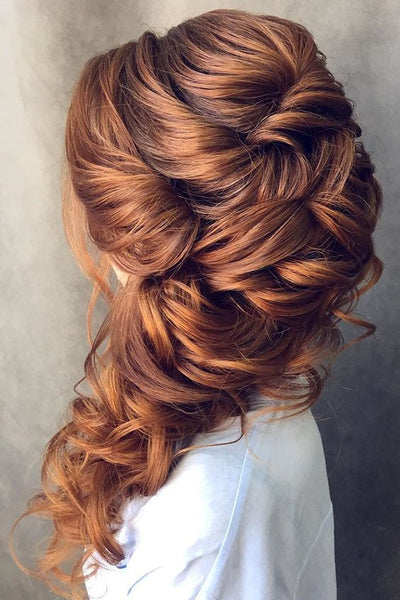 wedding sideswept hairstyle
