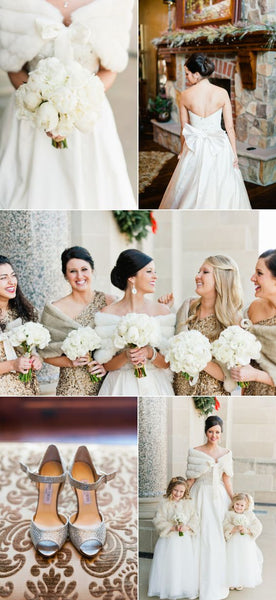 winter wedding color palette 2019 gold ivory