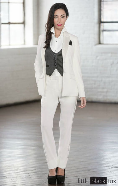 wedding gown alternative tux