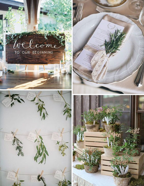 2019 wedding trends herbs