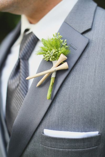 unique boutonniere groom flower alternative