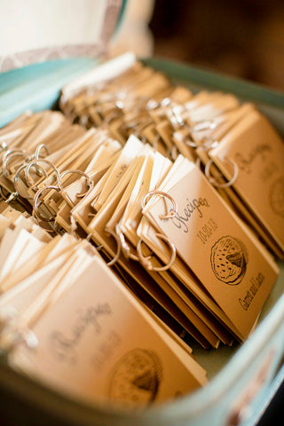 wedding favor recipe books