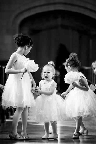 funny flower girl meltdown wedding planning