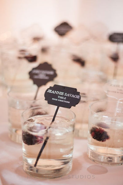 fall wedding cocktail escort cards