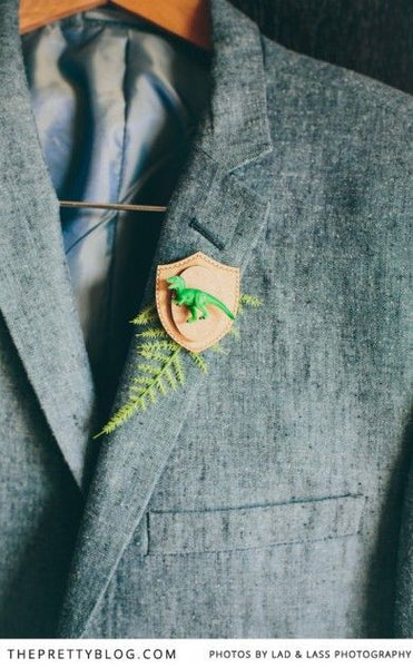 unique boutonniere groom floral alternative