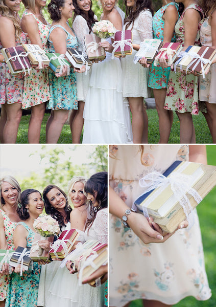 bridesmaids literary wedding