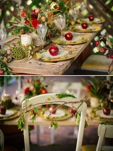 orchard wedding table decor