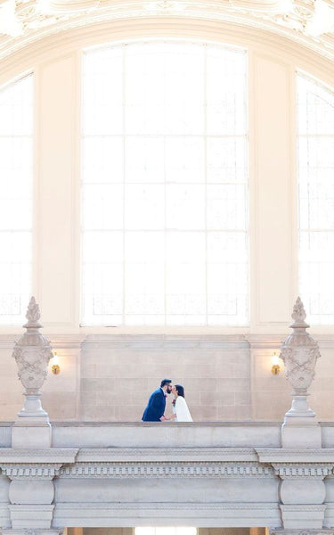 city hall elopement wedding inspiration