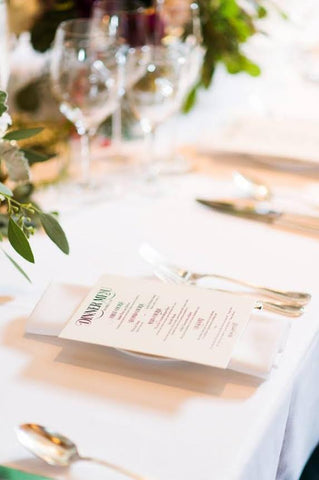 enchanting wedding menu