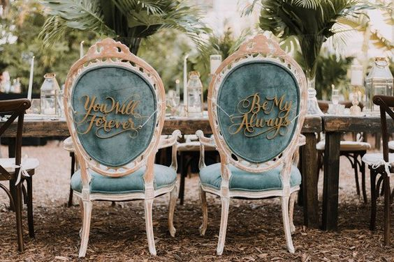 velvet wedding chairs