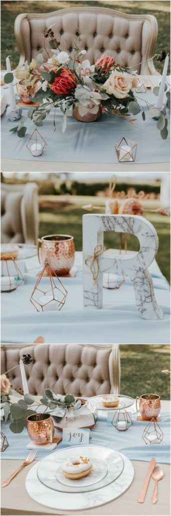 marble wedding table decor