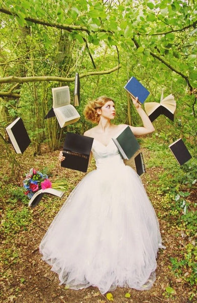 literary wedding photo booth books