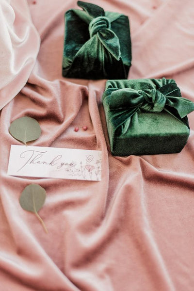 velvet wedding favor boxes
