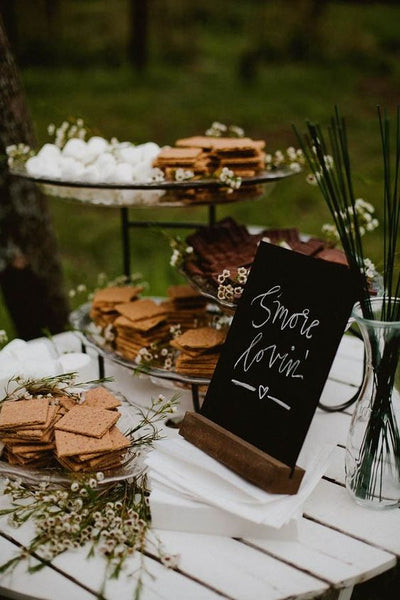 smore bar late night bite wedding food