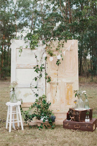 vintage wedding photo booth backdrop